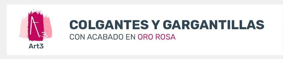 Colgantes de Oro Rosa - Comprar colgantes y gargantillas en oro rosa