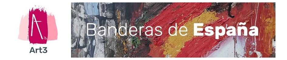 Pulseras de piel con la Bandera de España bañada en Plata y esmaltada