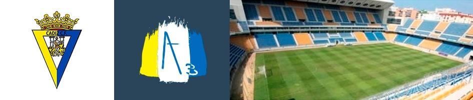 Gemelos Cádiz Club de Fúbol. Piezas diseñadas por ART3.